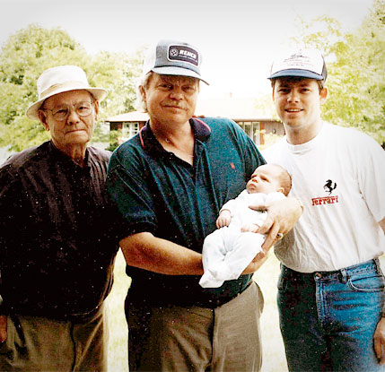 Pictured above is John, Donald, Rick and Alex in 1993.